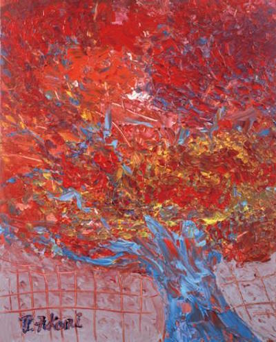 深見東州作『真如堂の「花の木」の紅葉は真っ盛り』