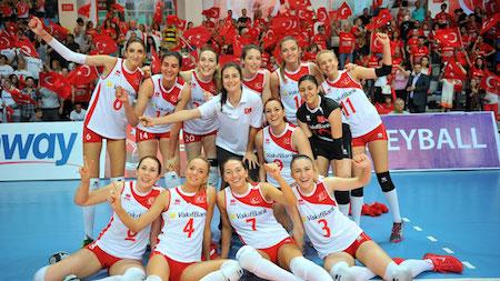 トルコの女子バレーチーム。日本や欧米とかわりません。しかも美人ぞろい