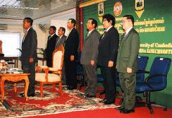カンボジア大学開校式