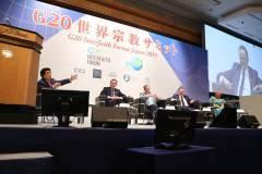 G20世界宗教サミットにおける、キャメロン元英国首相ほか4人の海外政治家の基調講演